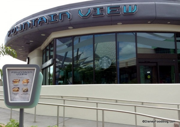 Fountain View Cafe at Epcot, the Newest Walt Disney World Starbucks Location