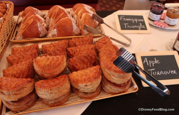 Apple Turnovers and Frangipane Pastries Parisian Breakfast