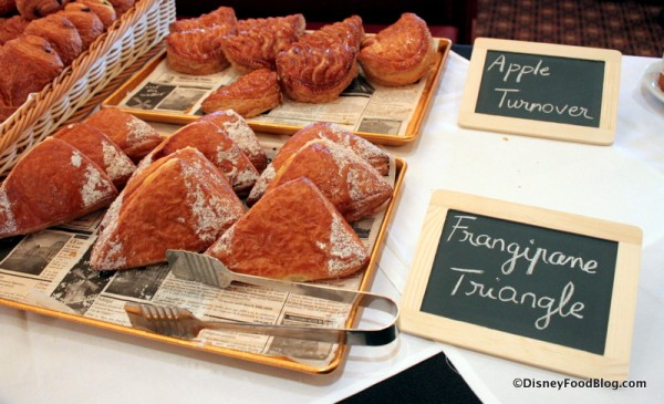 Apple Turnovers and Frangipane Triangles Parisian Breakfast