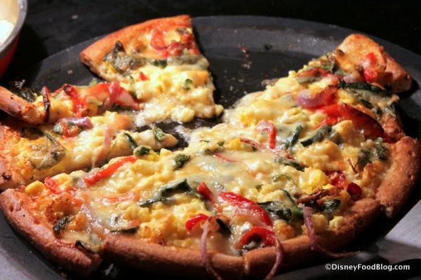 Breakfast Pizza -- Up Close