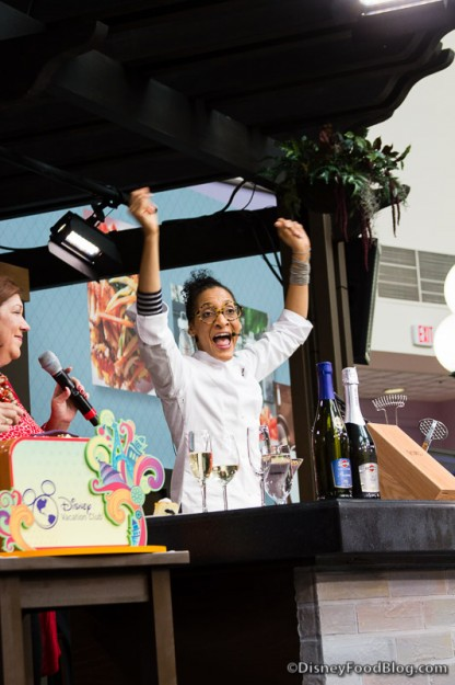 Cooking with Carla Hall at the festival