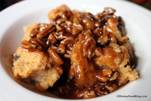 French Toast Bread Pudding with Pecan Praline Sauce