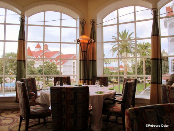 Looking out over the Grand Floridian's court yard