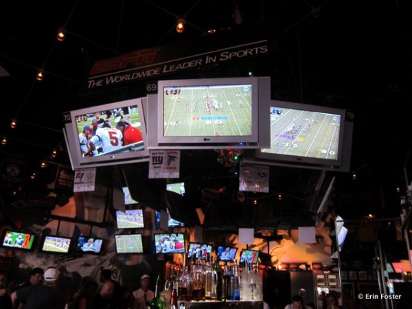 Televisions at ESPN Club