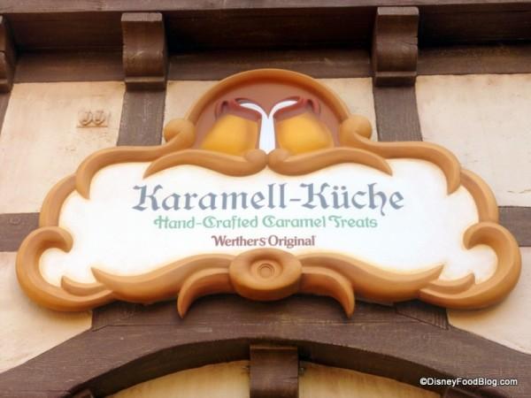 Karamell-Küche sign