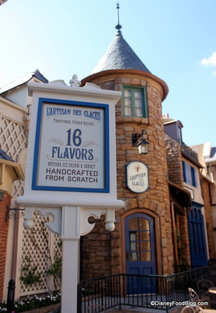 L'Artisan des Glaces in Epcot's France Pavilion