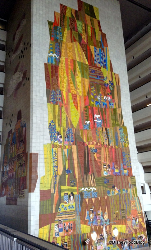 Review lunch at contempo cafe in disney s contemporary for Contemporary resort mural