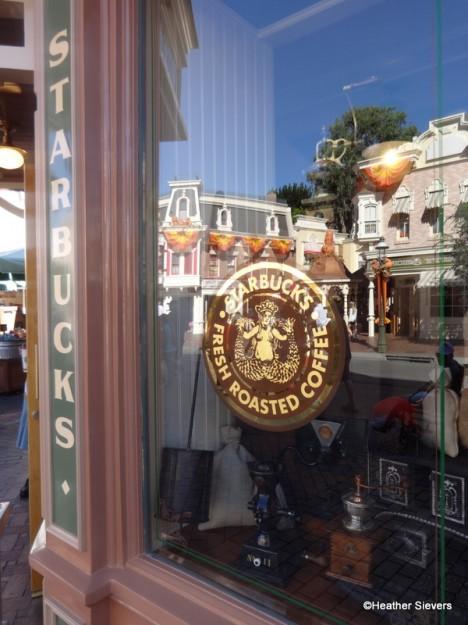 Starbucks Logo on the Window of Market House