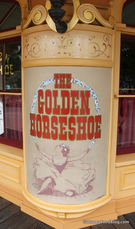 Review the golden horseshoe in disneyland the disney food blog sign fandeluxe Image collections