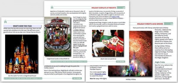Sample Pages from the DFB Guide to the Walt Disney World Holidays