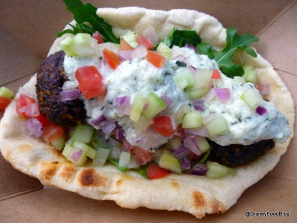 Lamb Meatball Flatbread Sandwich