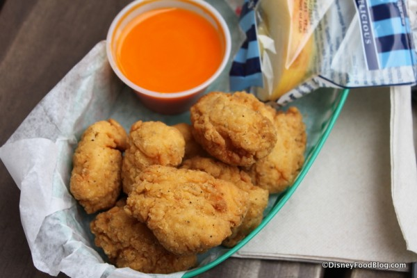 Nuggets with Sauce Uncovered