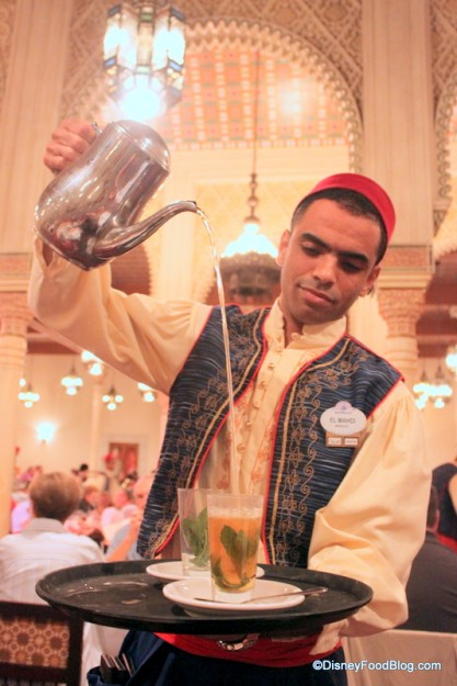 Pouring Mint Tea in Epcot's Morocco