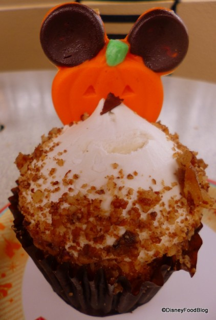 Pumpkin Cupcake with Maple Icing