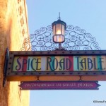Spice Road Table Signage Up in Disney World's Epcot!