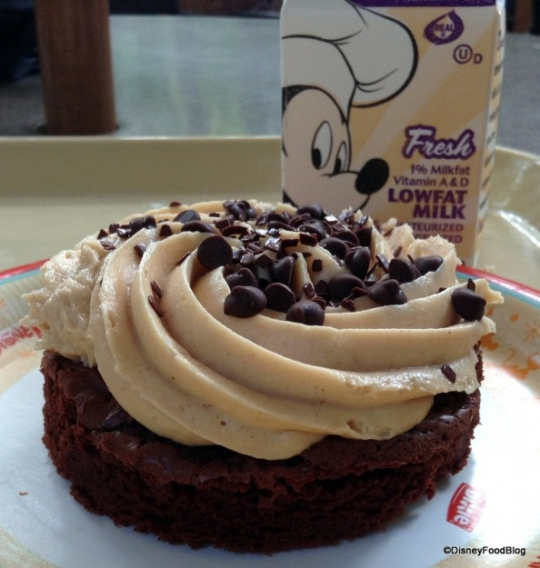 Peanut Butter Brownie with Mickey milk