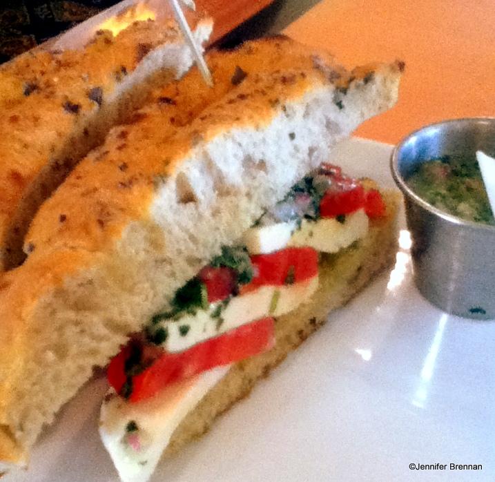 Tomato and Mozzarella Sandwich