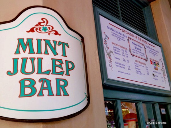 The Mint Julep Bar is a small walk-up spot located in New Orleans Square.