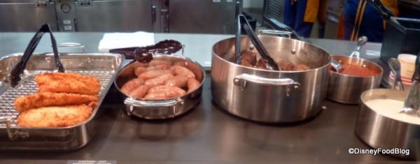 Panko Chicken, Italian Sausage, and Meatballs