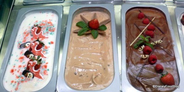 Peppermint, Nutella, and Chocolate Gelato