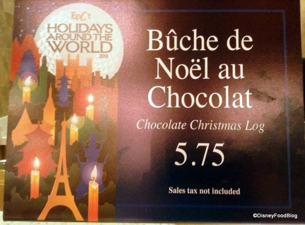 Bûche de Noël au Chocolat is Just One of the Holidays Around the World Offerings at Epcot this Year!