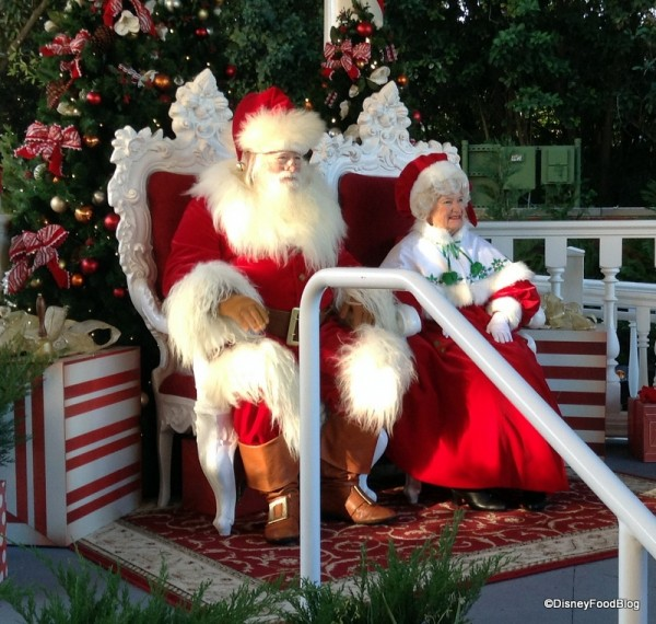 Visit with Santa during Epcot's Holidays Around the World