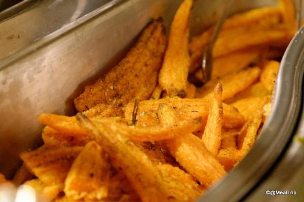 Sweet Potato Fries in Tray