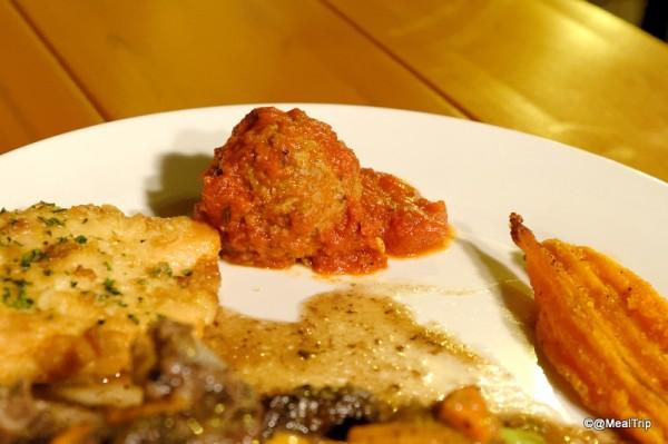 Plated meatball