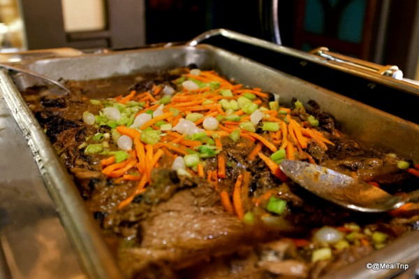 Barbosa's Braised Beef with Julienne Carrots, Celery, and Pearl Onions