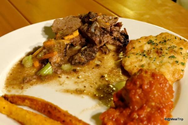 Barbosa's Braised Beef Plated