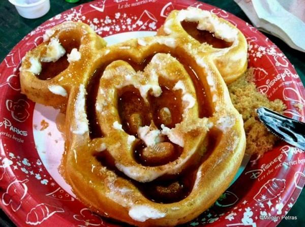 Mickey Waffle for breakfast