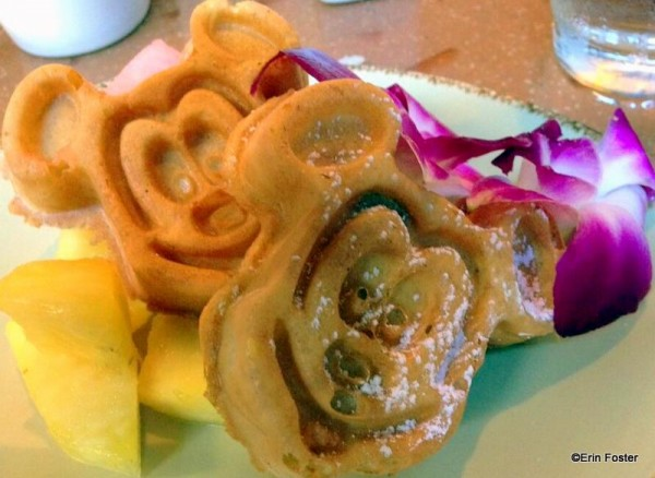 Tropical Mickey Waffles