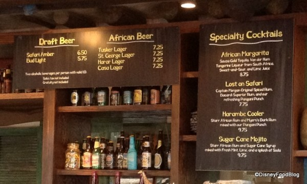 Beer and Specialty Cocktails Menu