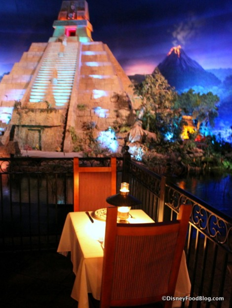 Aztec Pyramid, Volcano, and Intimate Seating