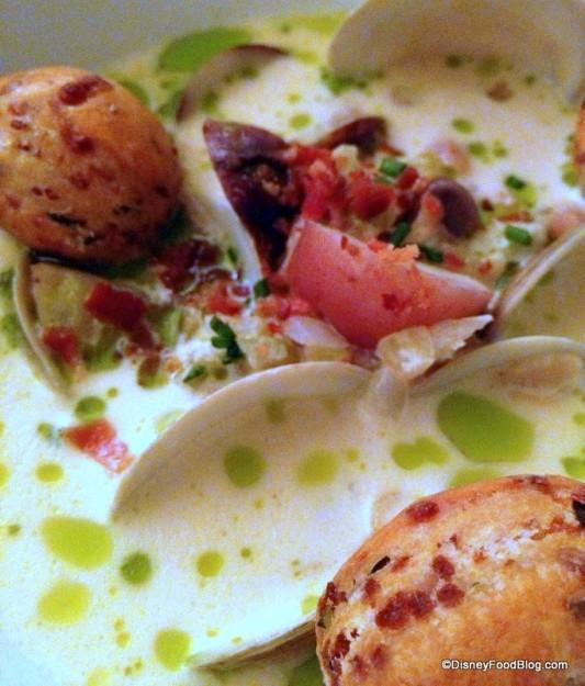 New England Clam Chowder -- Up Close