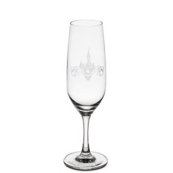 Cinderella Castle Glass Flute -- Cheers!