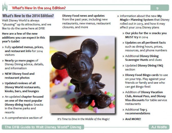 Sample Page from the 2014 DFB Guide to Walt Disney World Dining