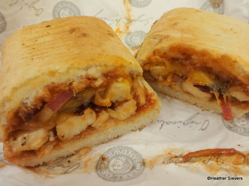 recipe: earl of sandwich bbq chicken flatbread [2]