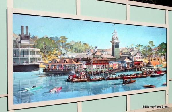 Disney Springs Artwork on construction walls
