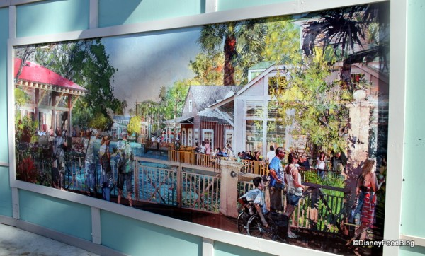 Disney Springs Artwork on construction walls