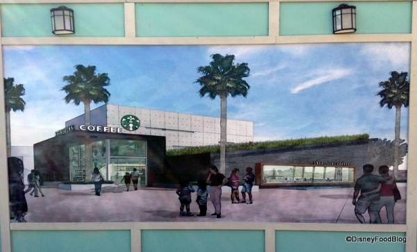Artwork reflecting the West Side Starbucks, opening Spring 2014