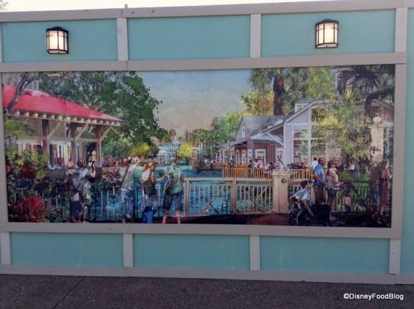 Artwork depicting the future Disney Springs