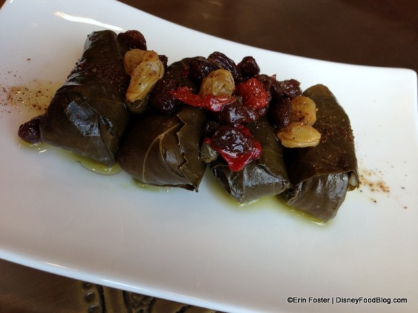 Grape Leaf Rolls at Spice Road Table