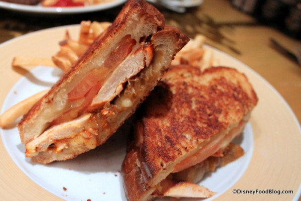 Grilled Chicken Sandwich -- Cross Section