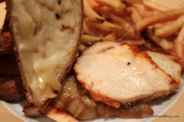 Grilled Chicken Sandwich -- Inside