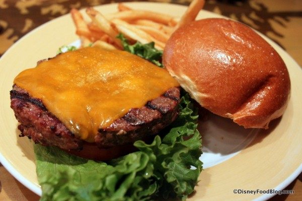 Half Pound Char-Broiled Burger -- Up Close