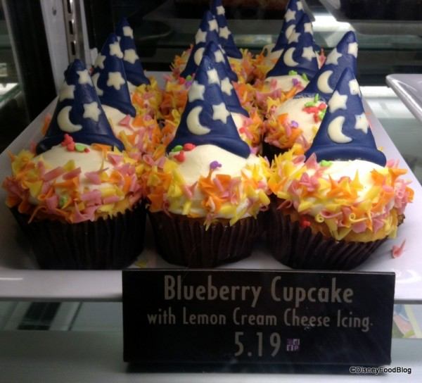 Blueberry Cupcakes in Case