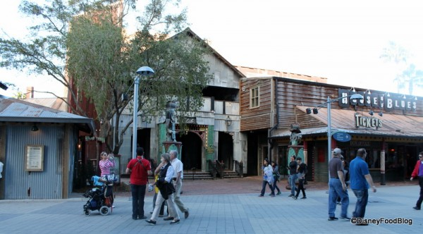 Left to right: end of The Smokehouse, the venue, and the box office