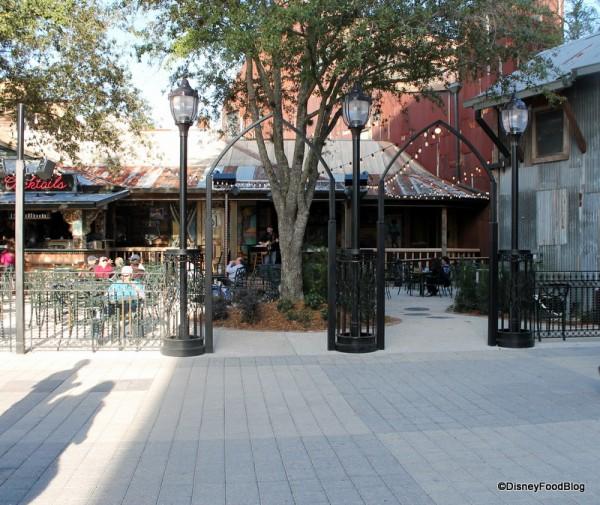 Wrought-Iron entrance into the courtyard