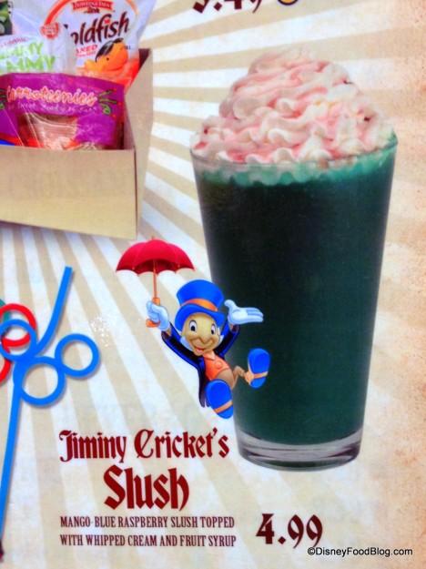 Jiminy Cricket's Slush -- Menu Description. Click to Enlarge